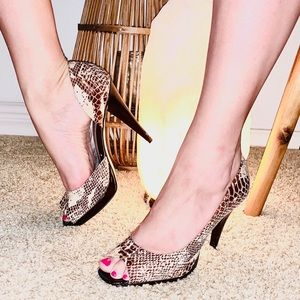 Snakeskin High Heels